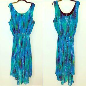 MSK Plus Faux Wrap Blouson Chiffon Print Dress 24W